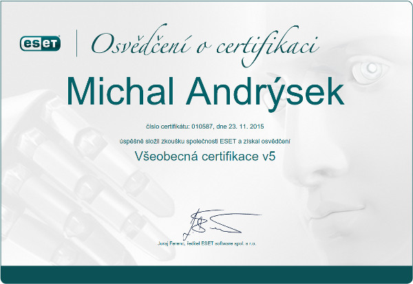 MamPrehled_cert_Andrysek2015_ESET