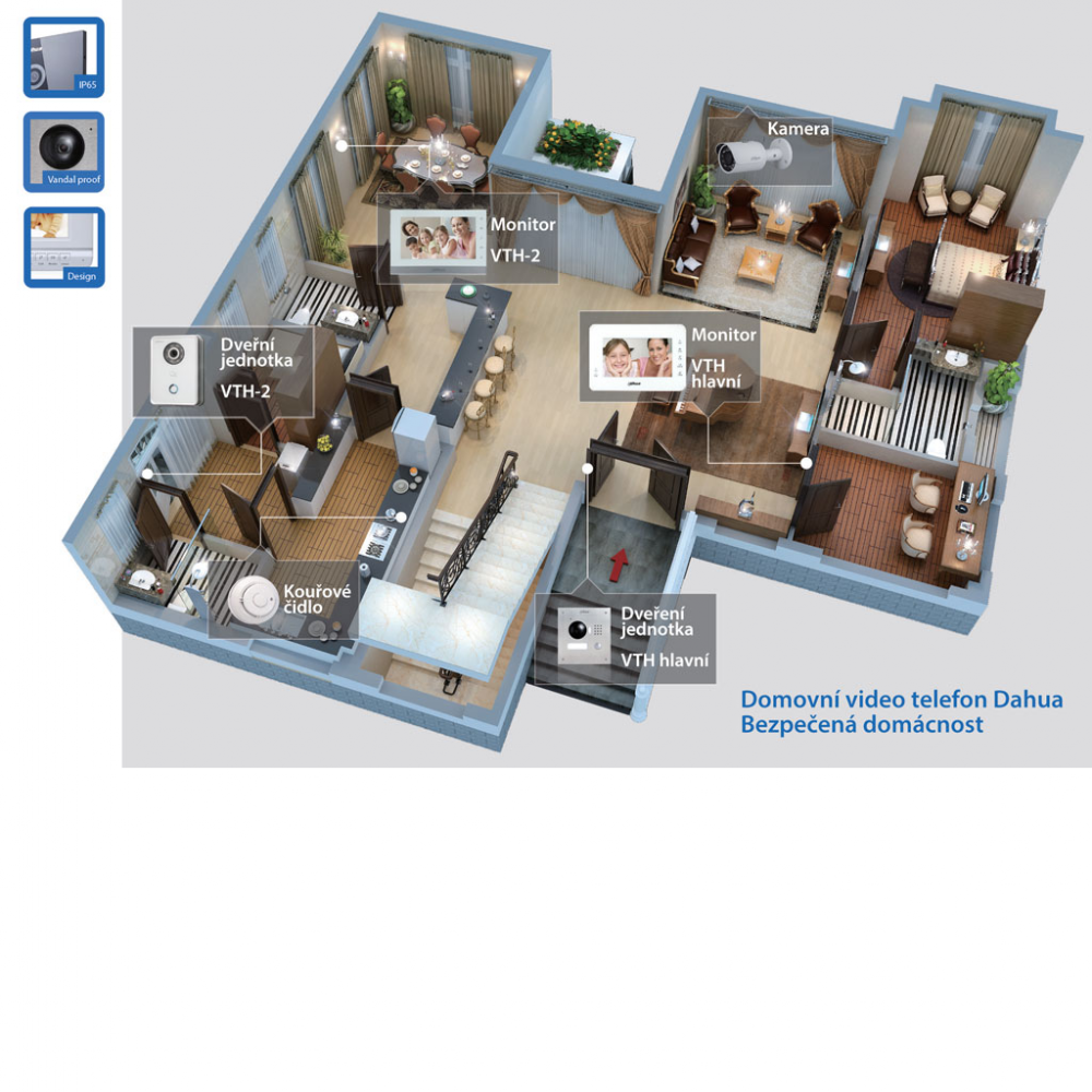 Rodinný dům nebo byt - komplexní instalace
